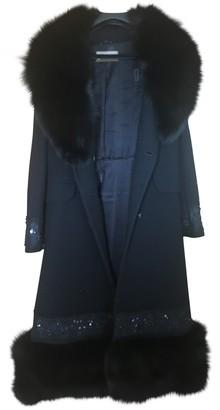 Galliano Blue Fur Coat for Women Vintage