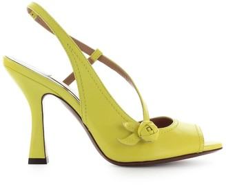 L'Autre Chose Lautre Chose Yellow Leather Slingback Sandal