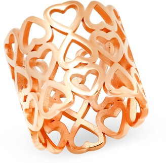 Steel By Design Steel by Design Cut-Out Heart Band Ring