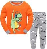 Canvos Little Boys Pajama Sets Dinosaur Pjs Set Cotton Toddler Sleepwear Size 2-7 Years