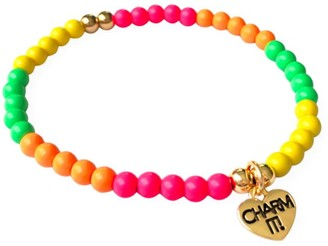 CHARM IT! Rainbow Stretch Bead Bracelet