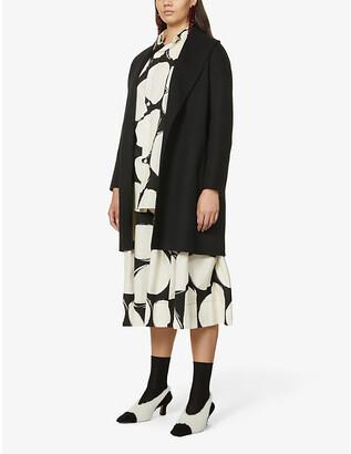 S Max Mara Messi wool wrap coat