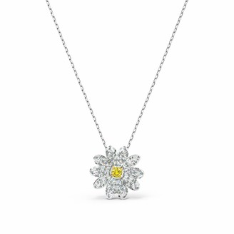 Swarovski Women's Eternal Flower Pendant Stunning Daisy Flower with Crystals and Rhodium Plating from the Eternal Flower Collection