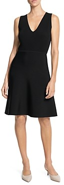 Theory Ribbed Fit-And-Flare Dress