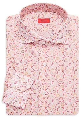 Isaia Floral Cotton Dress Shirt