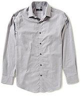 Hart Schaffner Marx Houndstooth Jacquard Long-Sleeve Woven Shirt