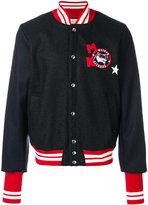 MAISON KITSUNÉ logo patch varsity jacket