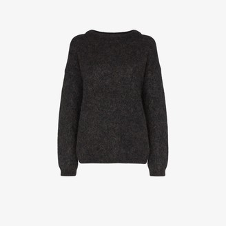 Acne Studios Dark Grey Oversized Knit Sweater