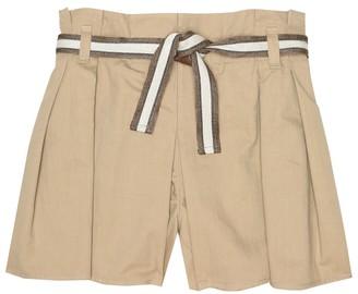 BRUNELLO CUCINELLI KIDS Belted stretch-cotton shorts