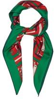 Gucci Argyle-print silk-twill scarf