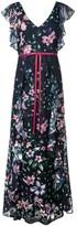 Marchesa Floral Print Dress