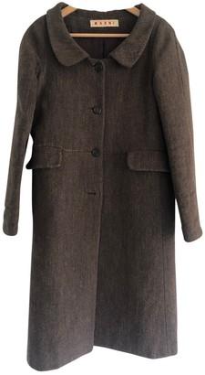Marni Brown Tweed Coat for Women