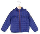 Petit Bateau Boys' Hooded Quilted Jacket