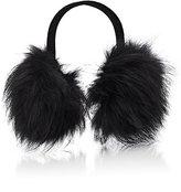 Barneys New York Women's Fur Earmuffs-BLACK