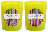 Qualitas Candles Desert Lime Beeswax Candles (Set of 2) (6.5 OZ)