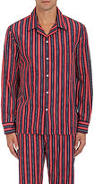 Sleepy Jones Men's Unversity-Striped Poplin Pajama Shirt