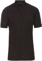 Alexander McQueen Short-sleeved cotton-blend shirt