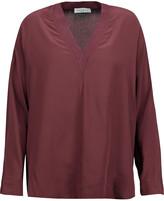 Sandro Elyette silk crepe de chine blouse