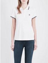 Moncler Embroidered cotton polo shirt