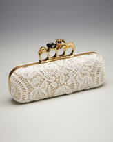 Lace Knuckle-Clasp Clutch