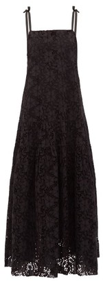 Merlette New York Ordesa Broderie-anglaise Cotton Maxi Dress - Black