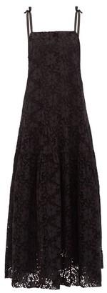 Merlette New York Ordesa Broderie-anglaise Cotton Maxi Dress - Womens - Black
