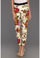 Ted Baker Ilanna Mid Summer Floral Print Trouser (Straw) - Apparel