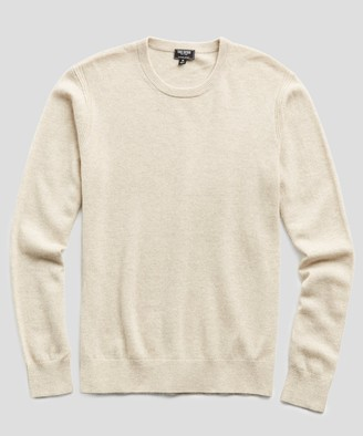 Todd Snyder Cashmere Crewneck Sweater in Oatmeal