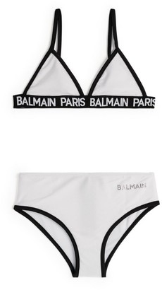 Balmain Kids Logo-Trim Triangle Bikini (8-16 Years)