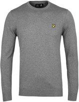 Lyle & Scott Light Grey Crew Neck Cotton Blend Sweater