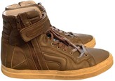 Pierre Hardy Khaki Leather Trainers