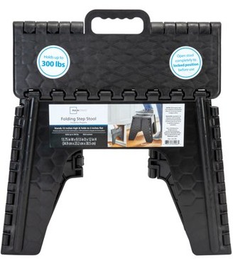 Mainstays Folding Step Stool 12 inch - Black