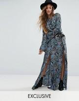 Reclaimed Vintage Inspired Split Front Maxi Skirt Co-Ord