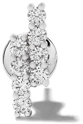 Riviera 18kt white gold diamond stud earring