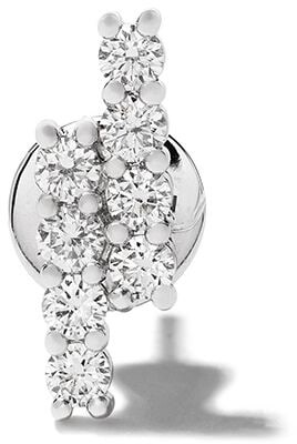 Riviera Alinka 18kt white gold diamond stud earring