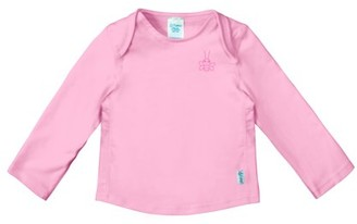 I Play Baby and Toddler Girls and Boys Unisex Long Sleeve Rashguard Swim Shirt, UPF 50+