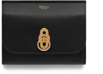 Mulberry Amberley Medium Wallet Black Cross Grain Leather