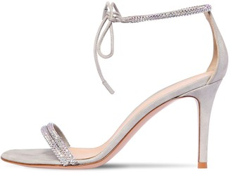 Gianvito Rossi 85mm Embellished Lame Leather Sandals