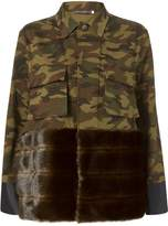 HARVEY FAIRCLOTH Camo Faux Fur Field Jacket