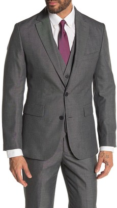 Moss Bros Medium Grey Solid Two Button Notch Lapel Tailored Fit Suit Separates Jacket