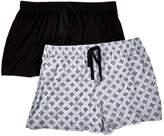 Rene Rofe Women's Sleep Bottoms ASSTFASH - Black & White Geometric Happy Couple Pajama Shorts Set - Women