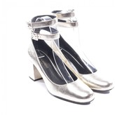 Saint Laurent Silver Patent leather Heels