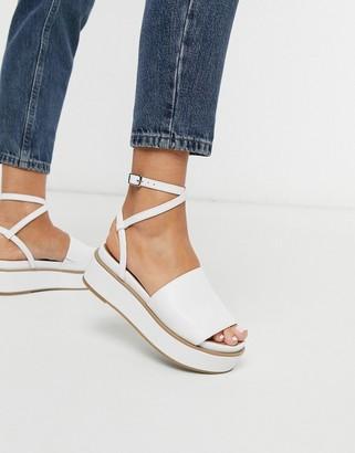 Tabitha ASOS DESIGN chunky flatform sandals in white