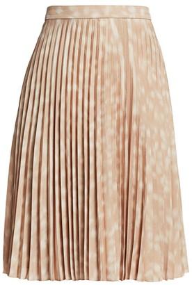 Burberry Rersby Deer-Print Plisse Skirt