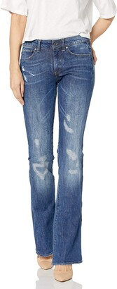 G Star Women's 3301 High Rise Flare Leg Jean in Hadron Stretch Denim
