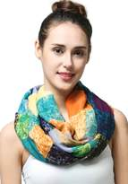 MissShorthair Women's Light Weight Colorful Painting Plaid Tartan Infinity Scarf