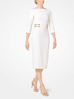 Michael Kors Stretch Boucle-Crepe Sheath Dress