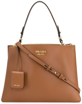 Prada Top Handle Leather Tote
