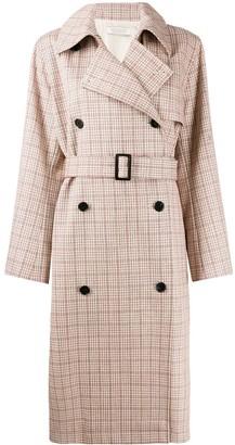 Nina Ricci checked double breasted coat