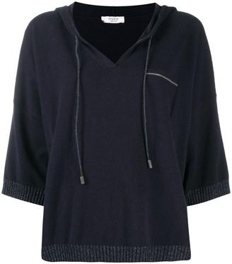 Peserico Hooded Knitted Jumper